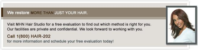 Women's Free Hair Loss Evaluation