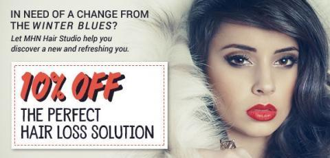 Shake the Winter Blues - 10% Off Any Hair Loss Solution