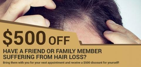 Save $500 with Referral of Friend or Family Member