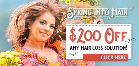 $200 Off Any Hair Loss Solution at MHN